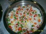 Amestecul de orez cu legume.