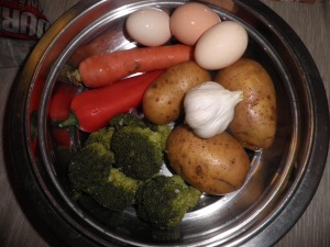 ingrediente pentru chiftele.