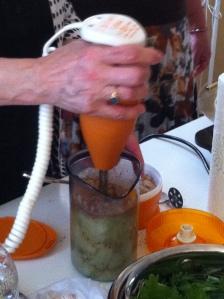se mixeaza humusul